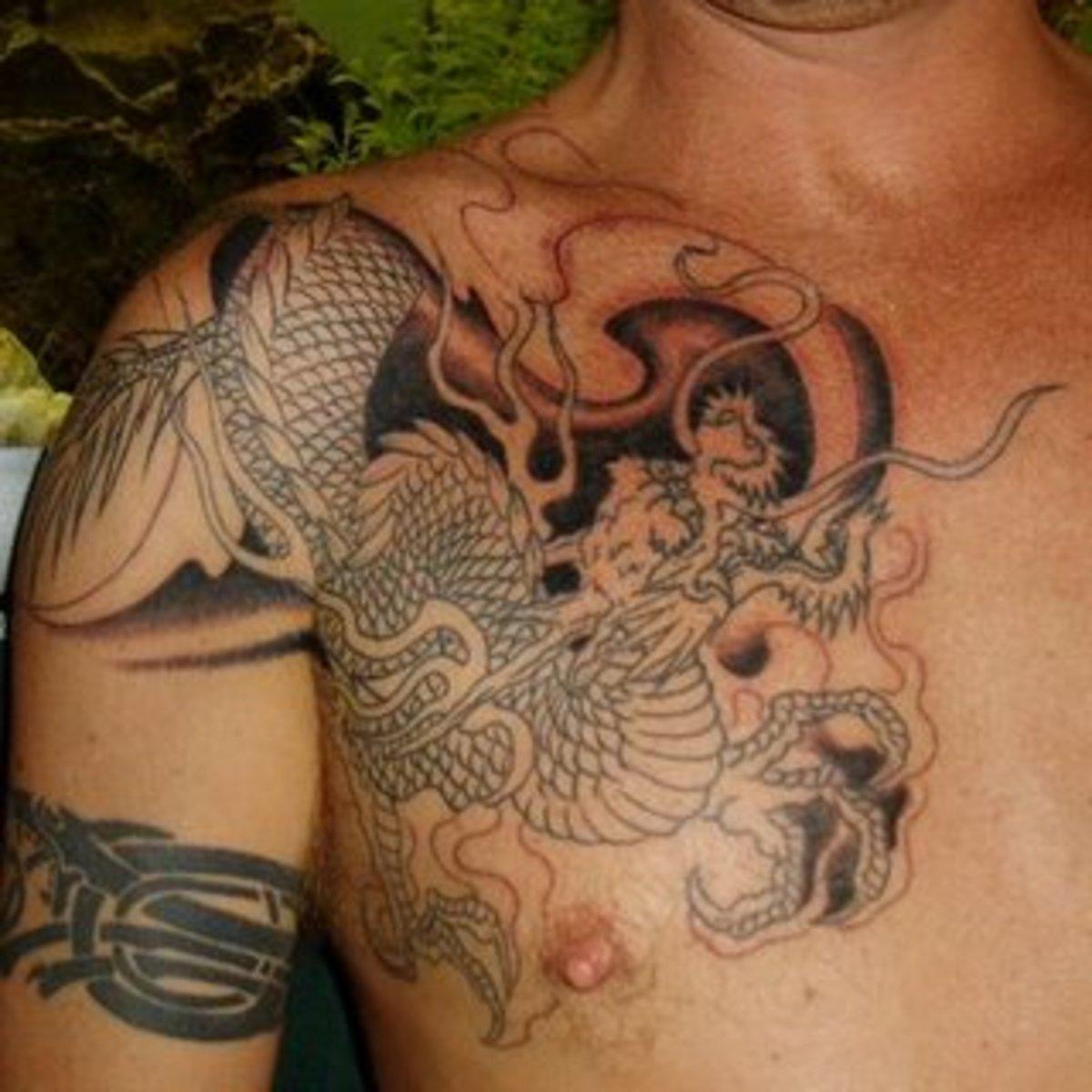 Half sleeve dragon