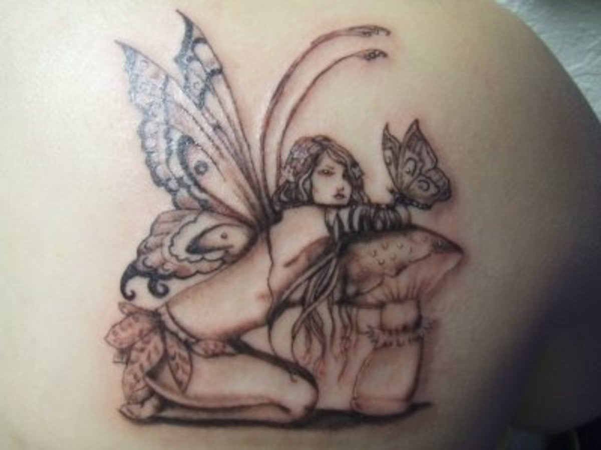 fairy tattoos offer many moods and emotions. Black Bedroom Furniture Sets. Home Design Ideas
