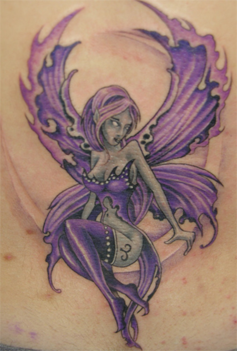 Purple Fairy Tattoo