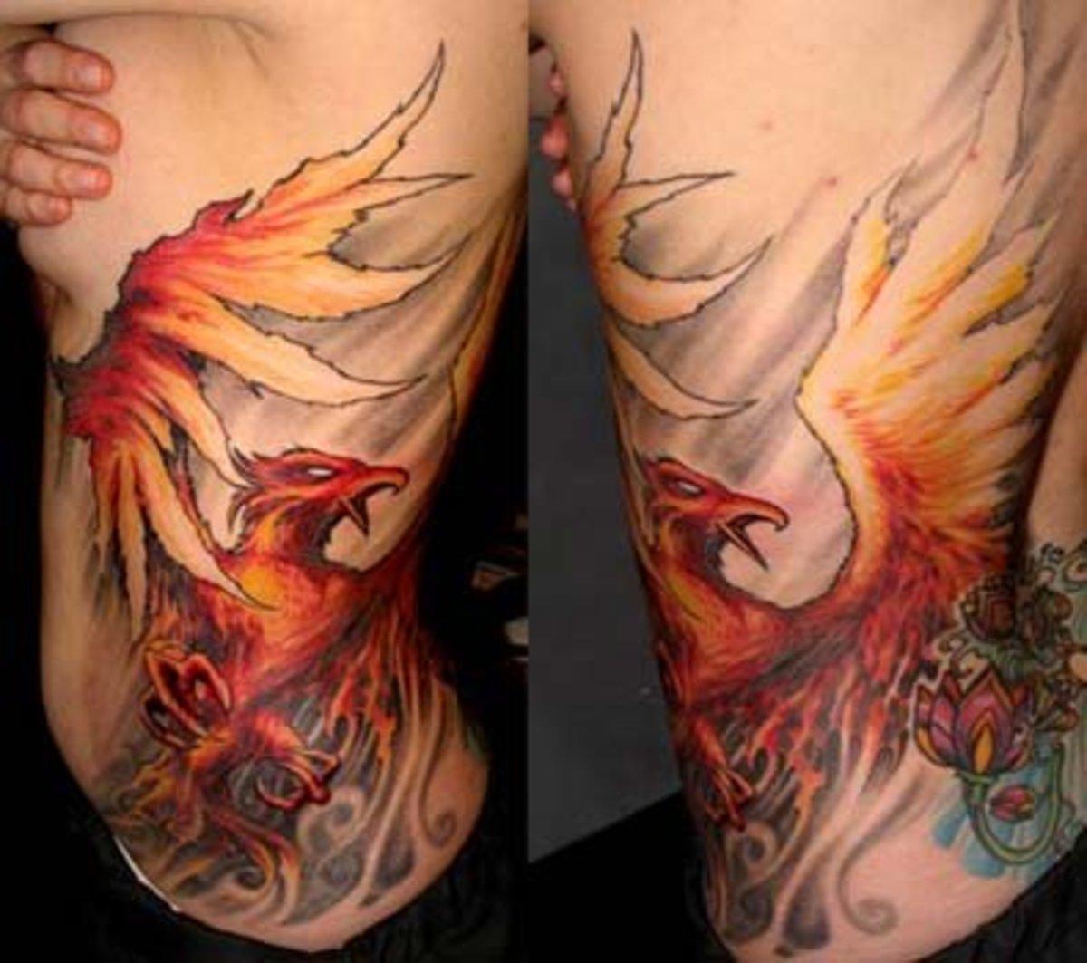 idei-dlya-tatuirovok - Возрождение и Феникс татуировки -  - фото