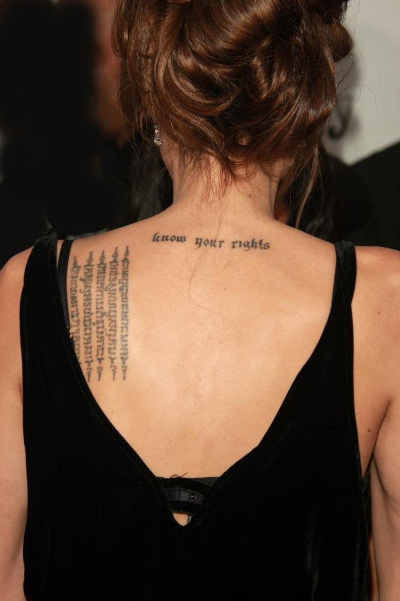 Khmer Script, Angelina Jolie