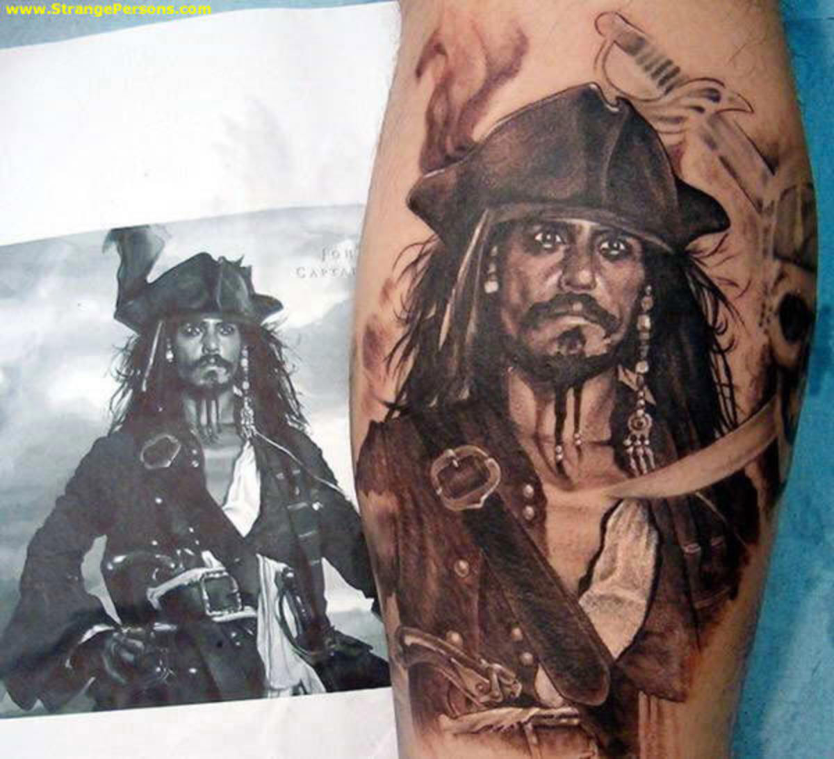 pirates of the caribbean jack sparrow tattoo. Pirates of the Caribbean