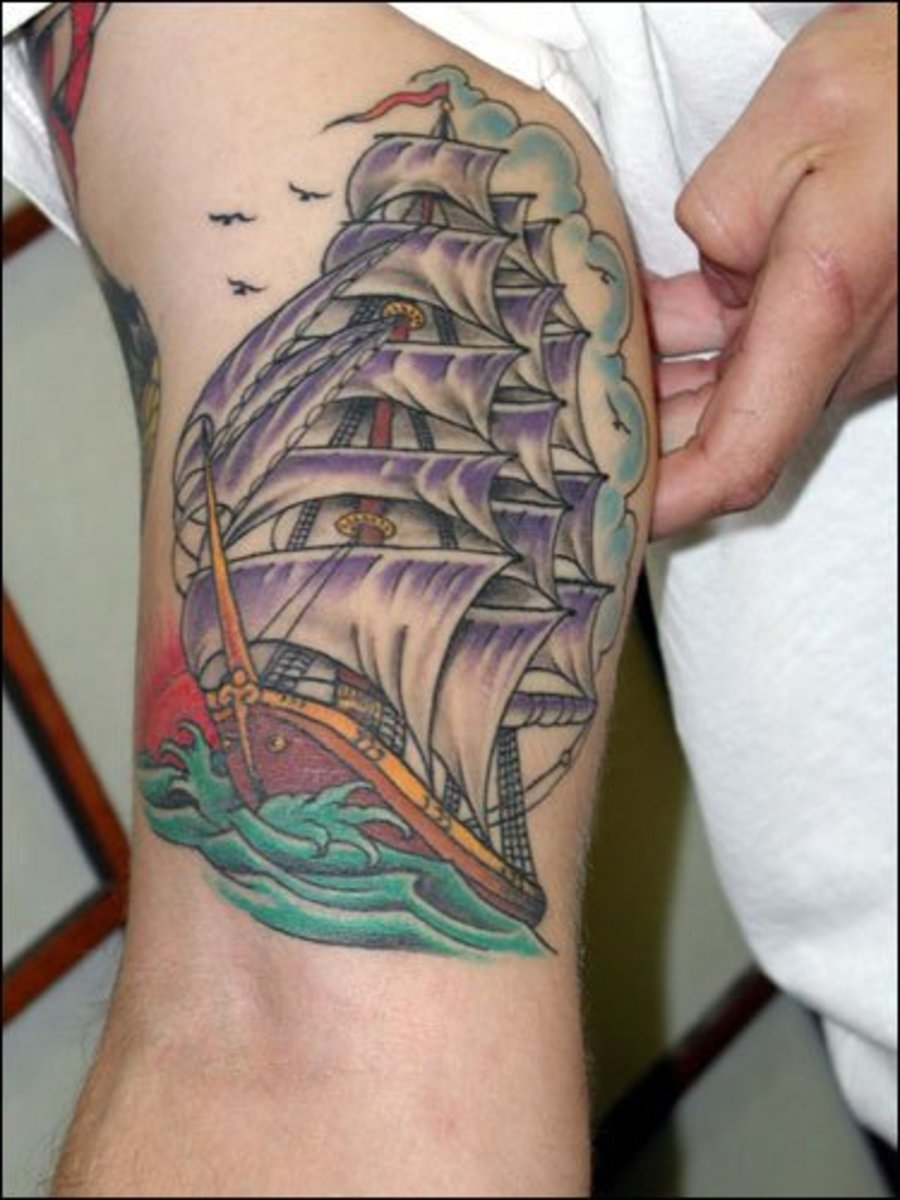 Ships and Sea Life Tattoos