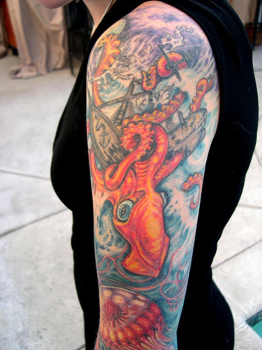 idei-dlya-tatuirovok - Корабли и море татуировки жизни -  - фото