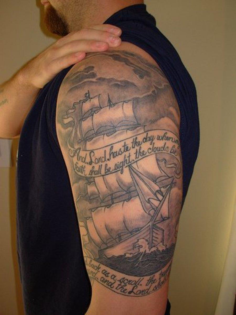 ships and sea life tattoos tatring. Black Bedroom Furniture Sets. Home Design Ideas