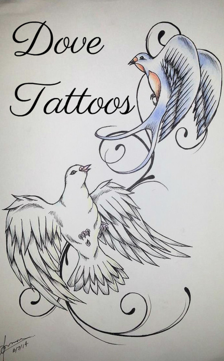 Peaceful Dove Tattoos