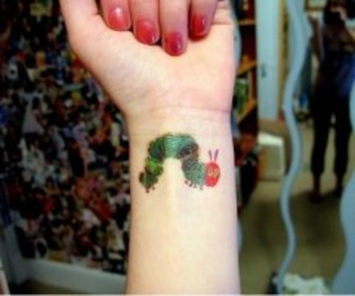 Caterpillar tattoo