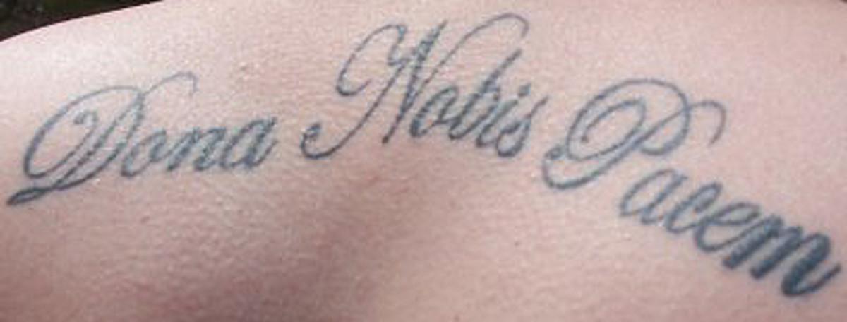 Tattoo ideas hebrew latin bible verse tattoos for Latin scripture tattoos
