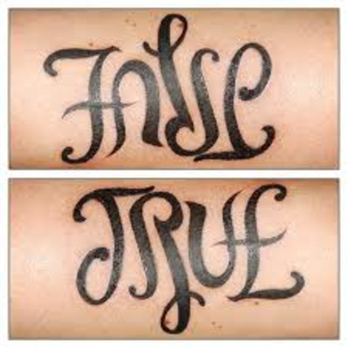 Tattoo ideas ambigram tattoos tatring for Tattoos that say something different upside down