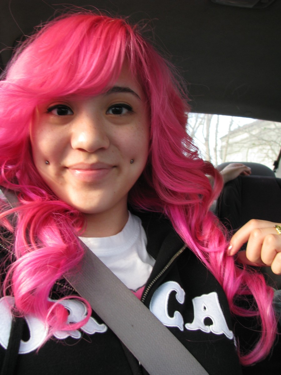 A double cheek piercing gives you deep dimples where you may not have had them before.