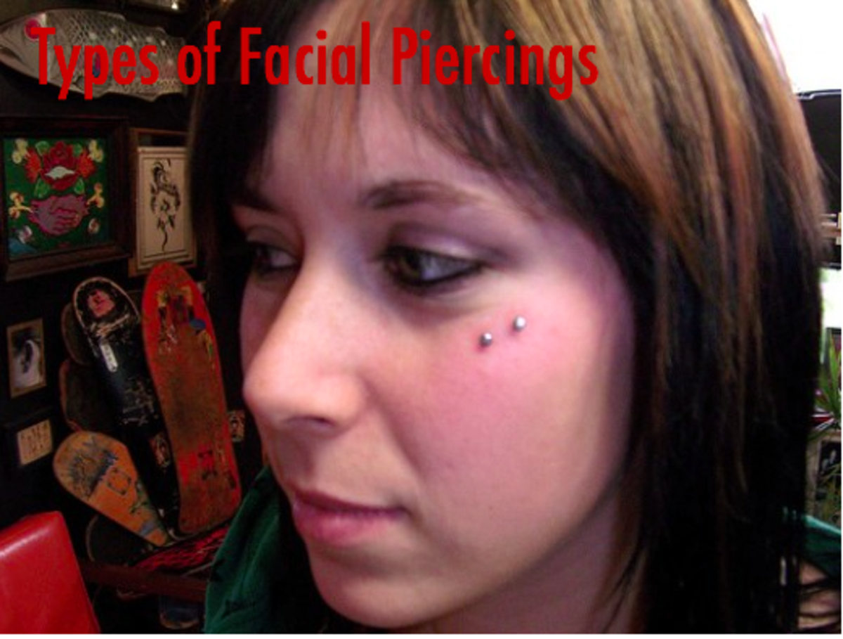 A side-cheek piercing looks awesome and can give you deep dimples where you didn't have any before. Note that cheek piercings can lead to more scarring and swelling than other facial piercings.