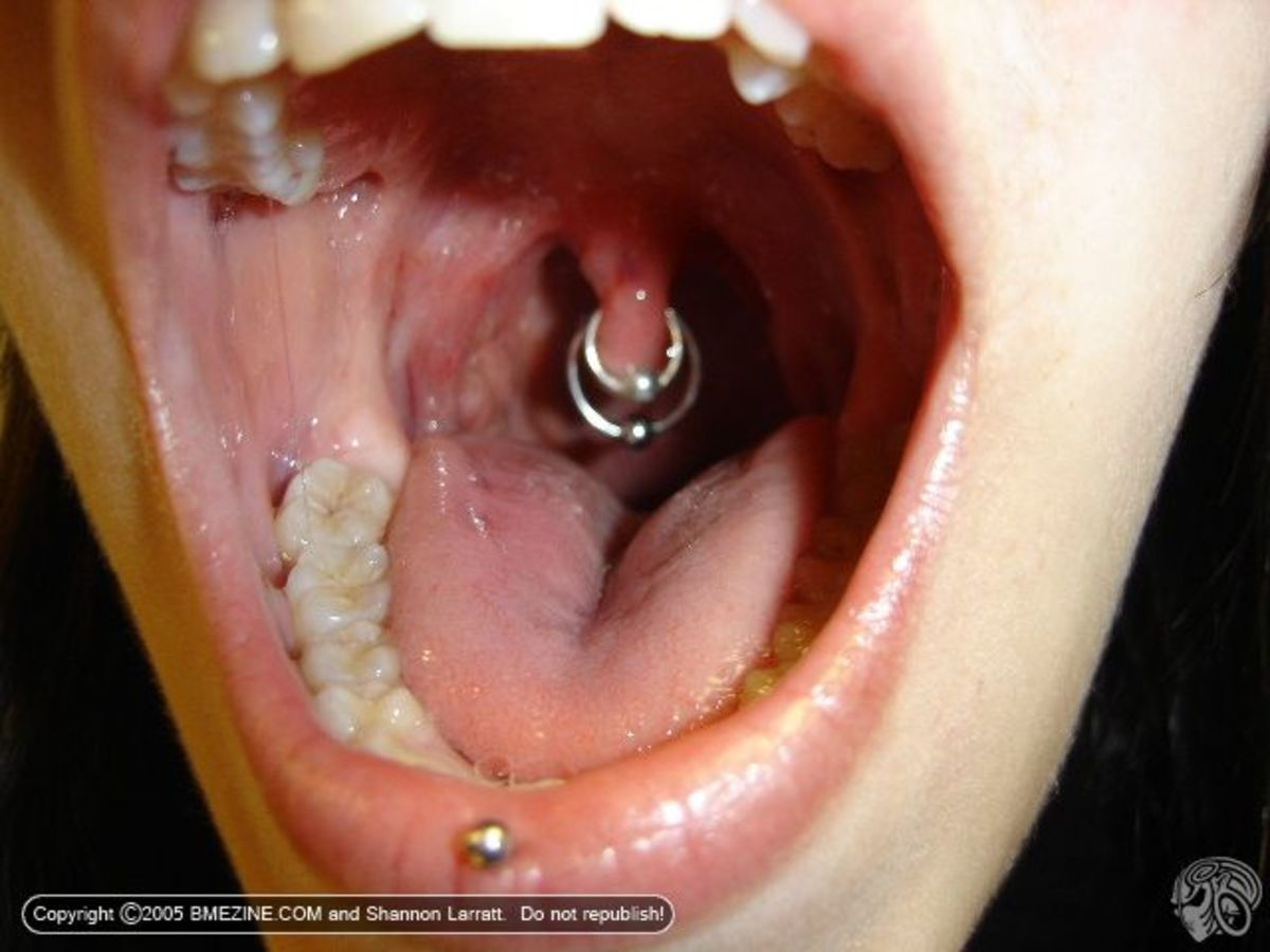Uvula piercings are rare because touching the uvula triggers the gag reflex in most people.