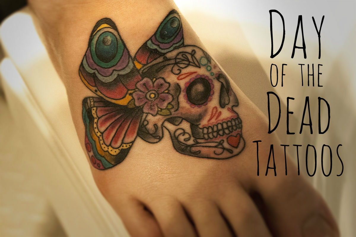 Mexican Day of the Dead and Sugar Skull Tattoos for Girls