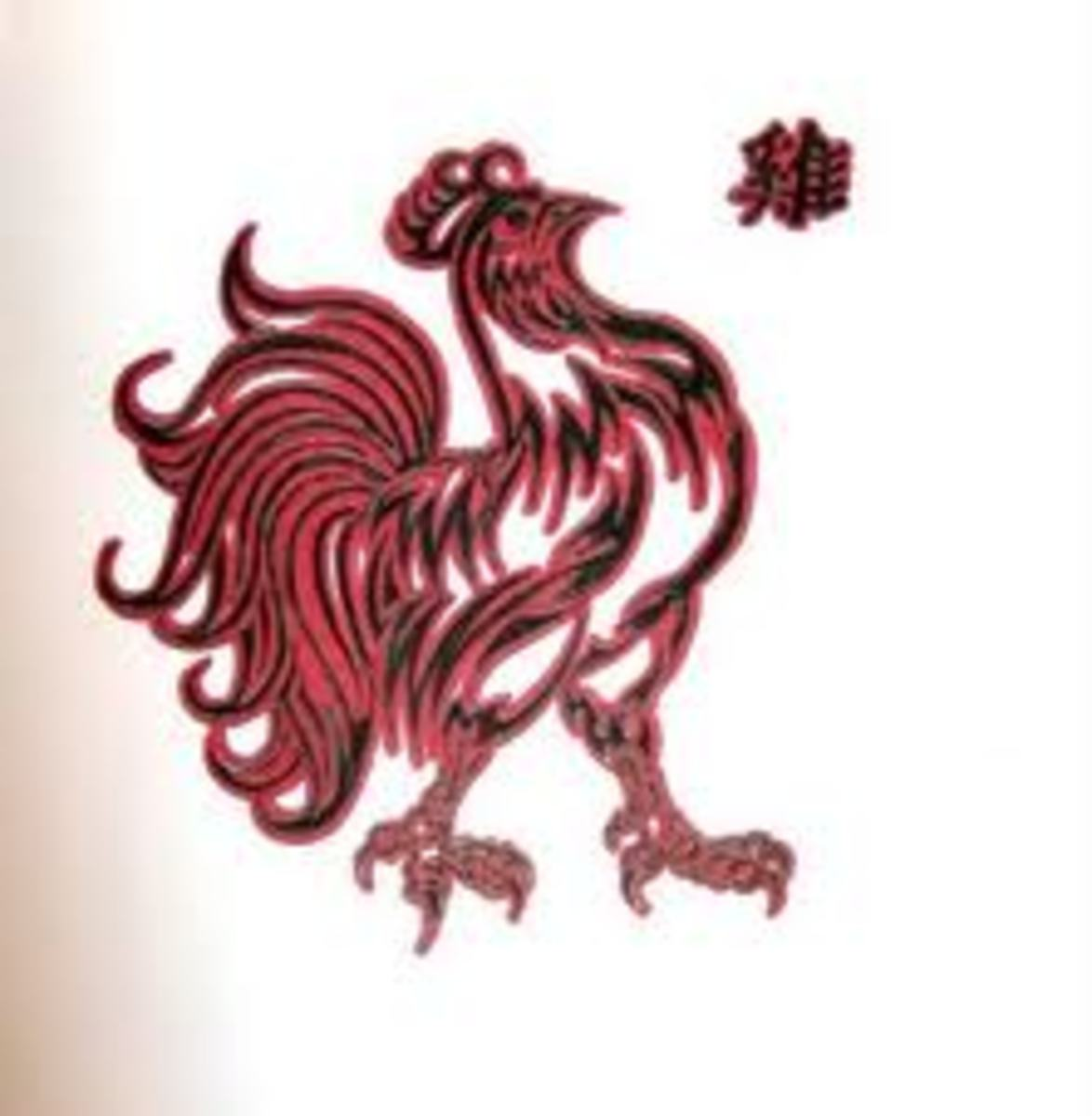 This tattoo is also from the Chinese zodiac. The sign is the rooster.