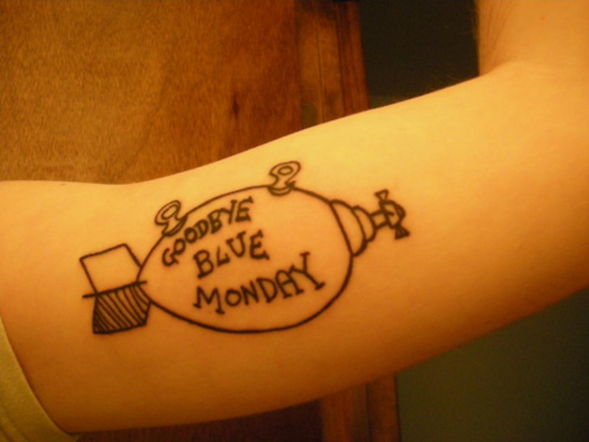 """Goodbye Blue Monday"" Tattoo"