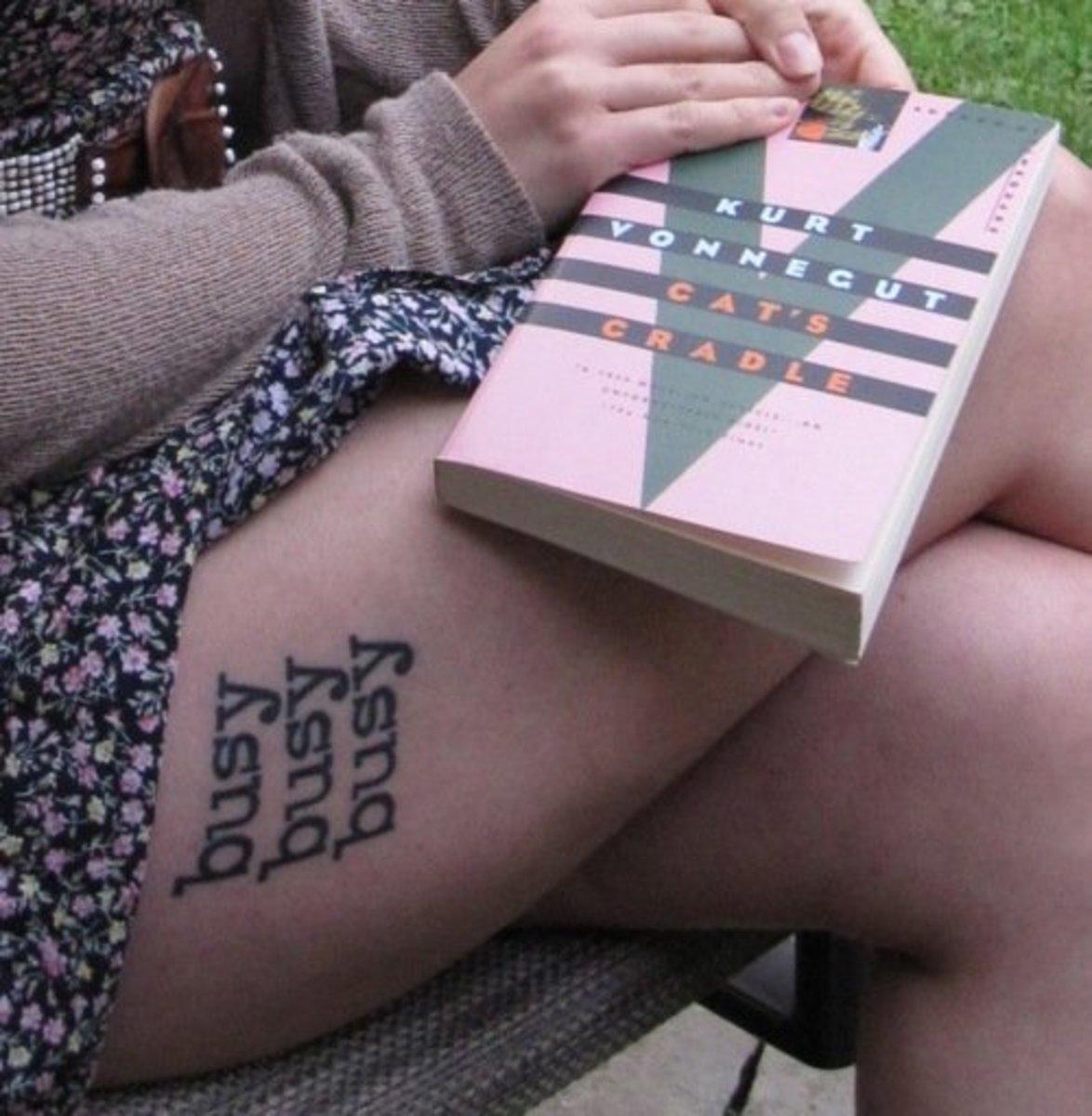 idei-dlya-tatuirovok - Татуировка Идеи: Курт Воннегут -  - фото