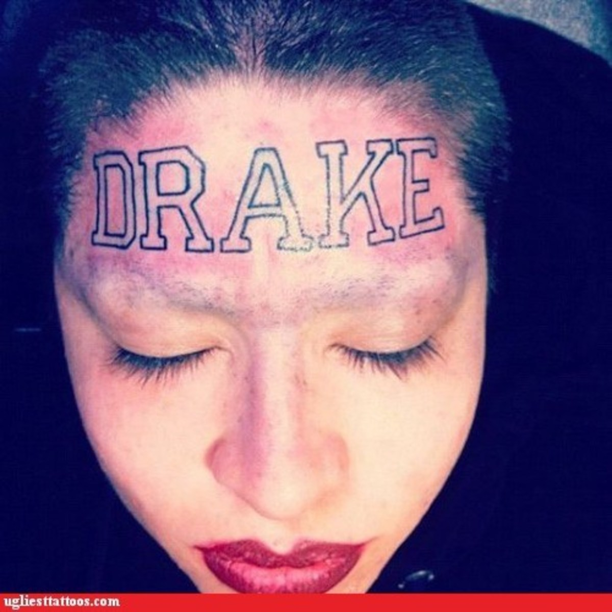 Ok, so I kind of doubt the authenticity of this one, but still, do you really want to spend the rest of your life with really long bangs just because you and Drake broke up? (my bad - I just read an article on Spin about this: Drake is some rapper.)