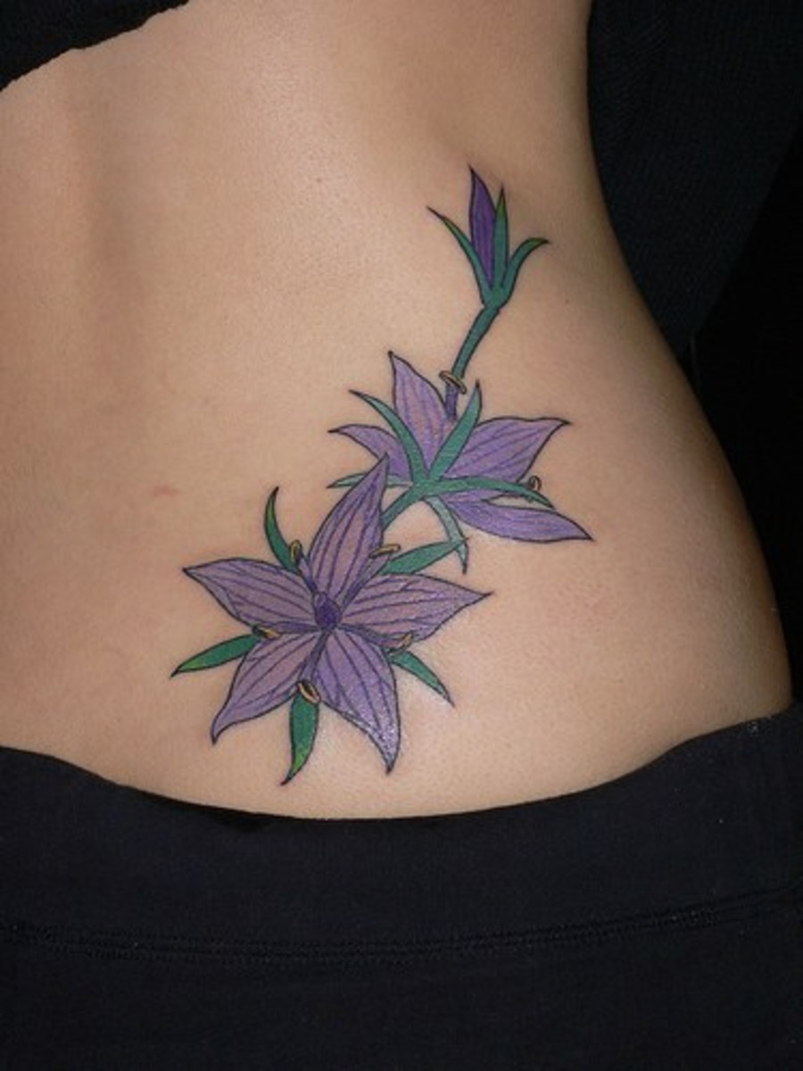 Purple hibiscus hip — great choice for a girly option