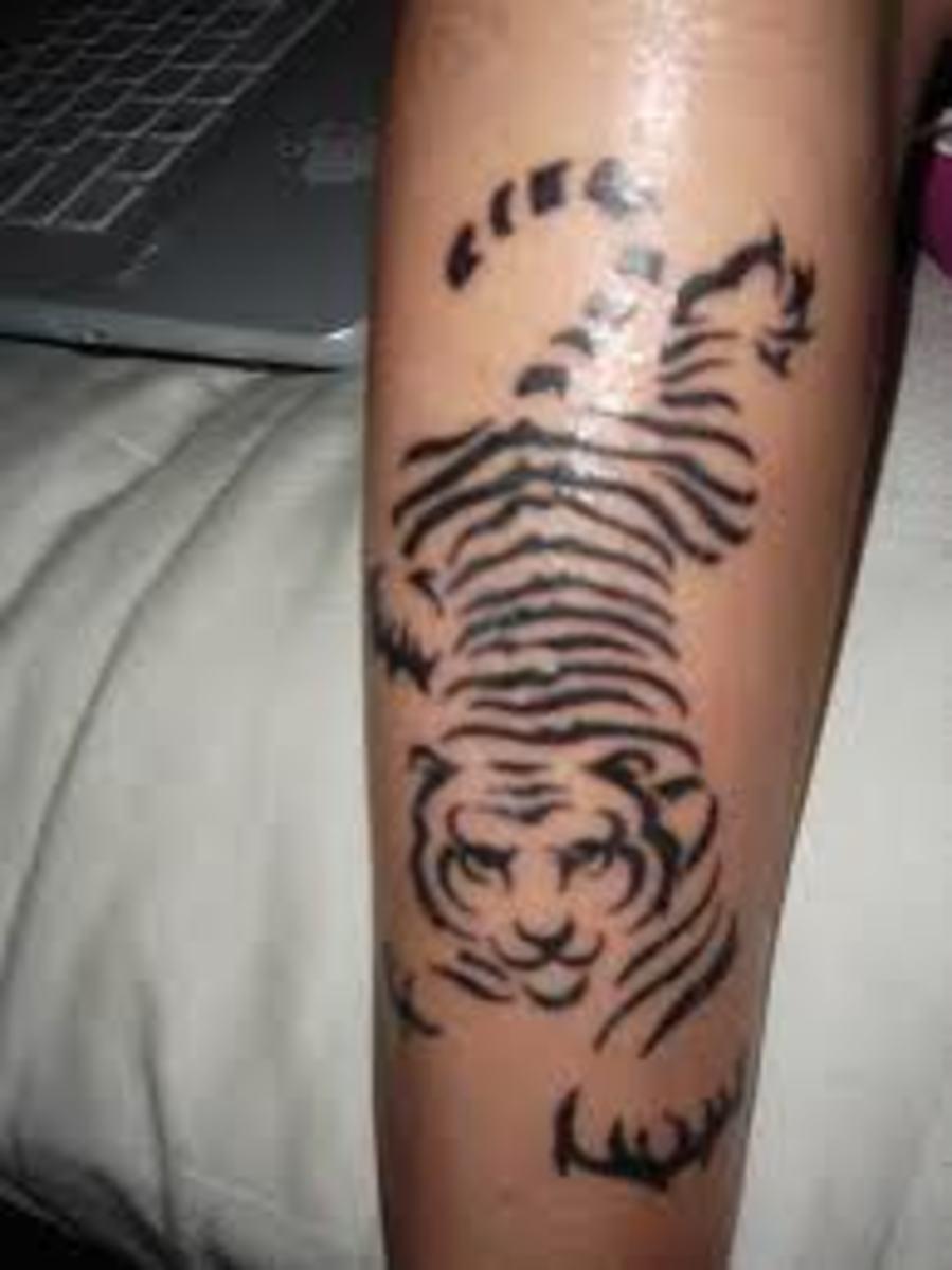 idei-dlya-tatuirovok - Конструкции тигра татуировки, идеи и смыслы -  - фото