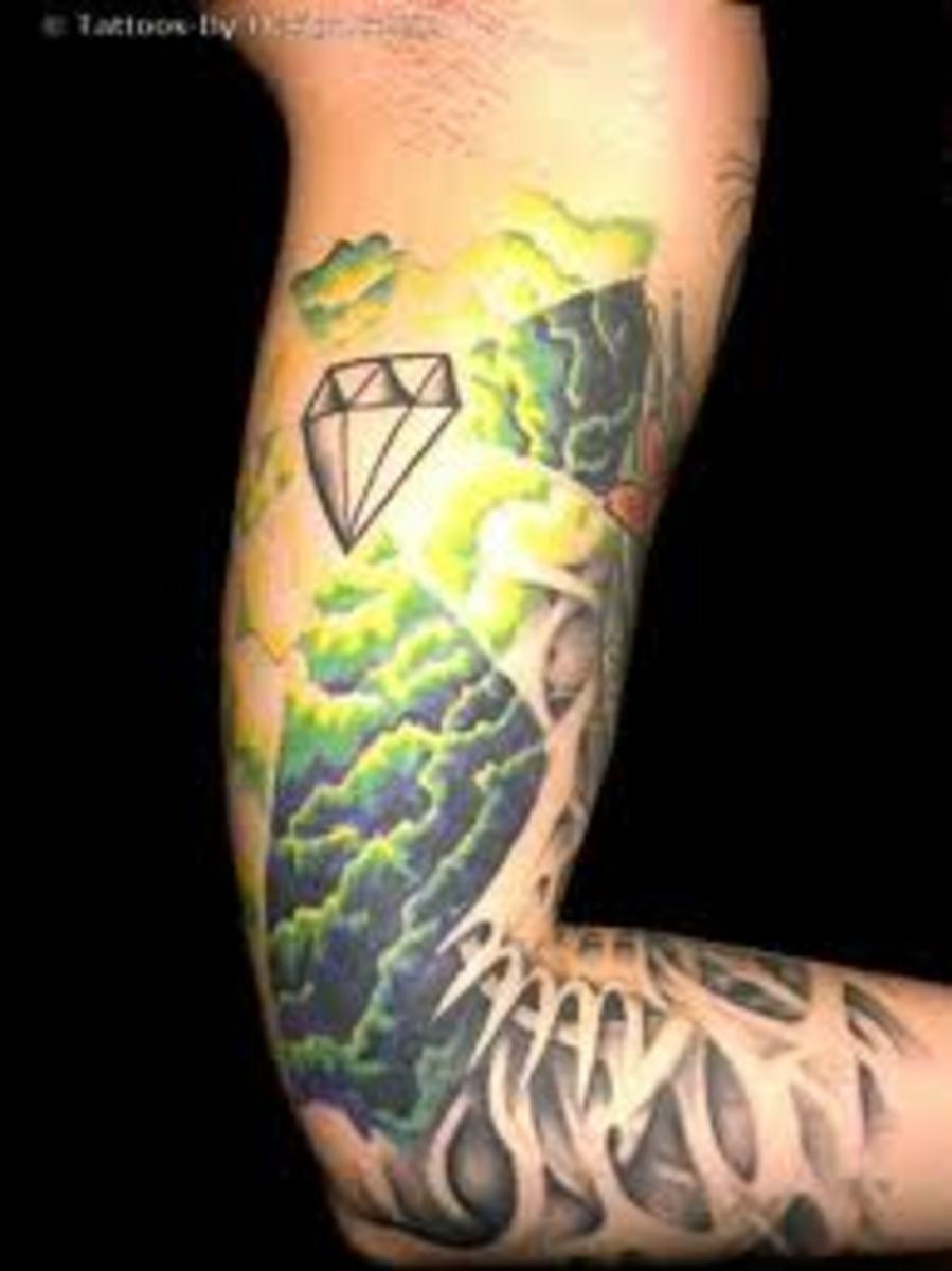 diamond tattoos ideas meanings and designs tatring. Black Bedroom Furniture Sets. Home Design Ideas
