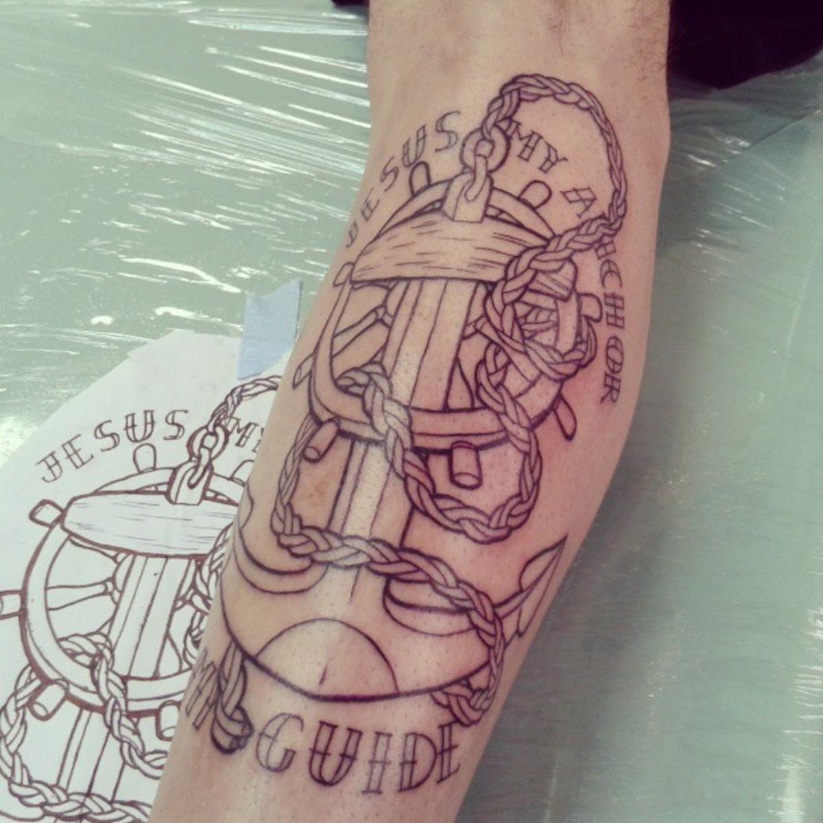 idei-dlya-tatuirovok - Якорь татуировки: эскизы, значения, и другие идеи -  - фото