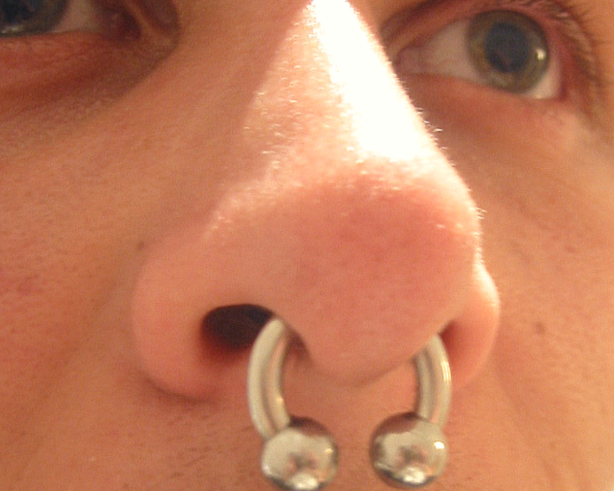 Large gauge septum piercing: How big is too big, for you?