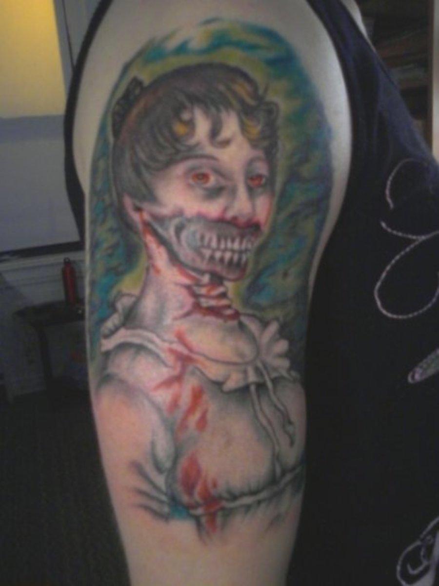 Woman Zombie Tattoo