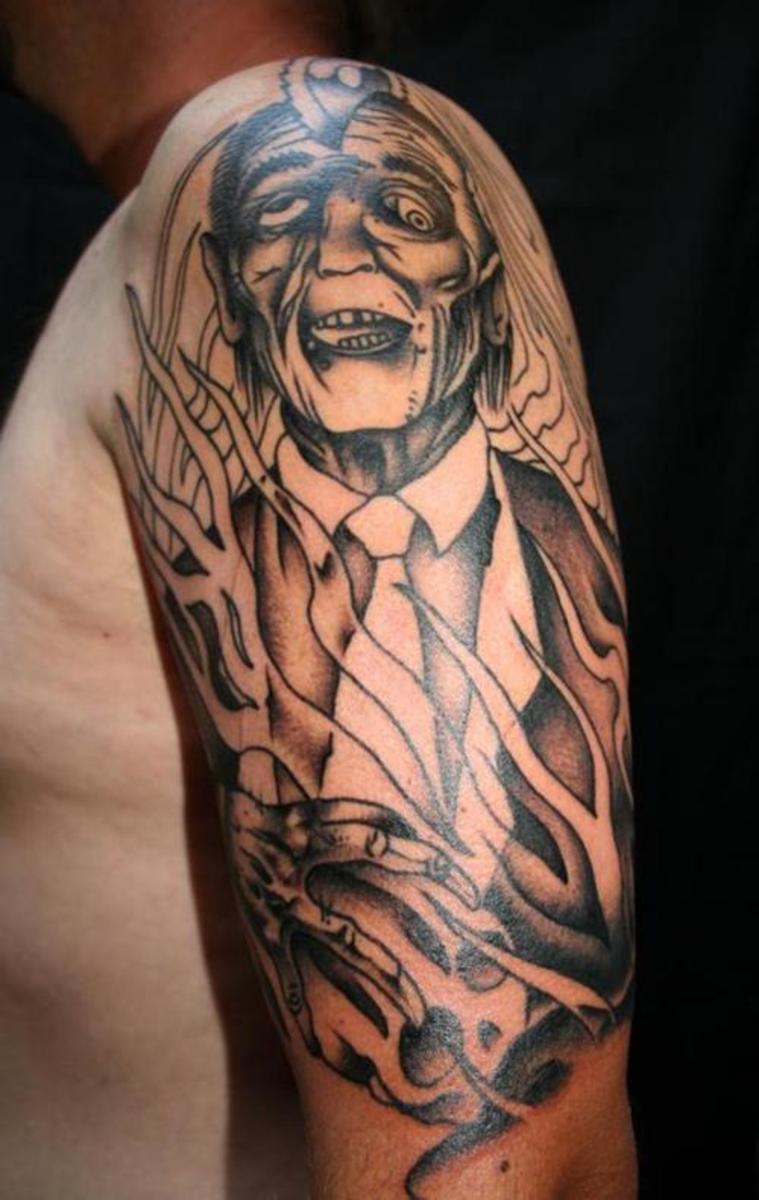 Zombie Man in Suit