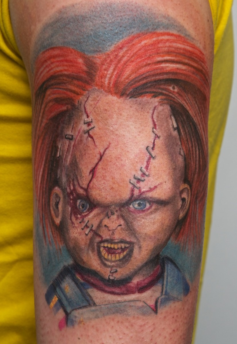 Tattoo Ideas and Examples: Chucky the Killer Doll