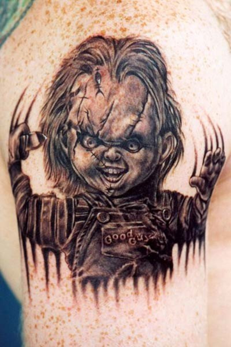 chucky the killer doll tattoos. Black Bedroom Furniture Sets. Home Design Ideas