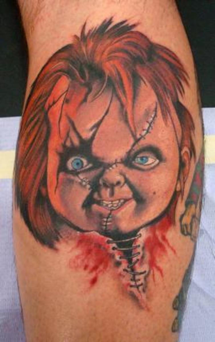 chucky the killer doll tattoos tatring. Black Bedroom Furniture Sets. Home Design Ideas