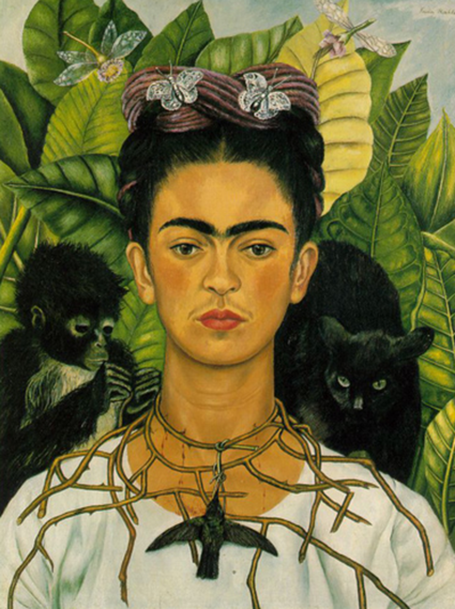 Self-Portrait with Thorn Necklace and Hummingbird, (1940) by Frida Kahlo