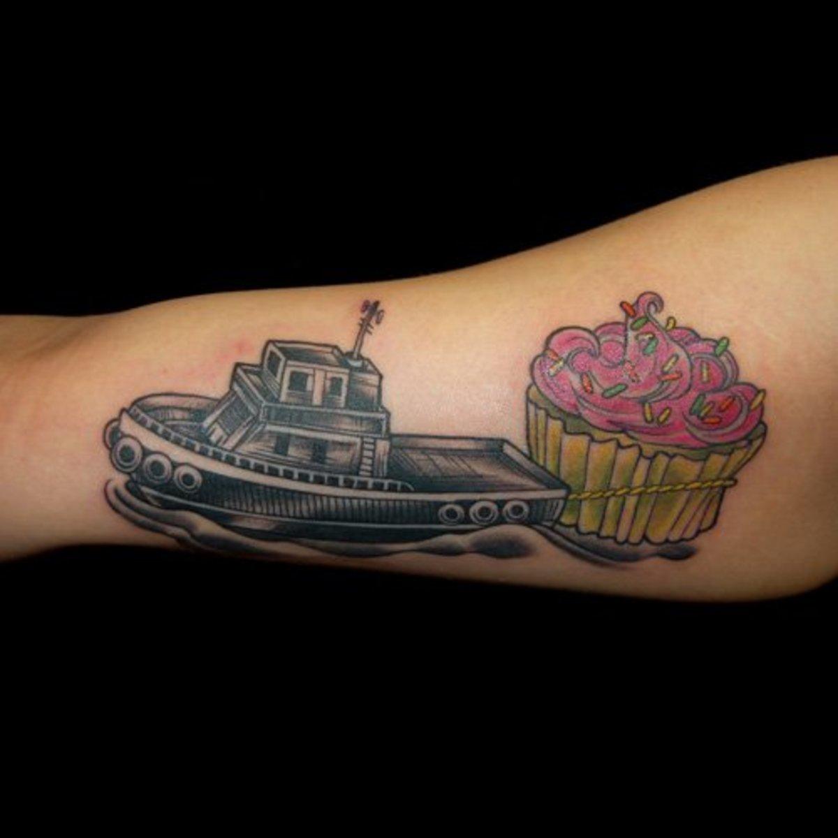 idei-dlya-tatuirovok - Лодка и корабль татуировки -  - фото