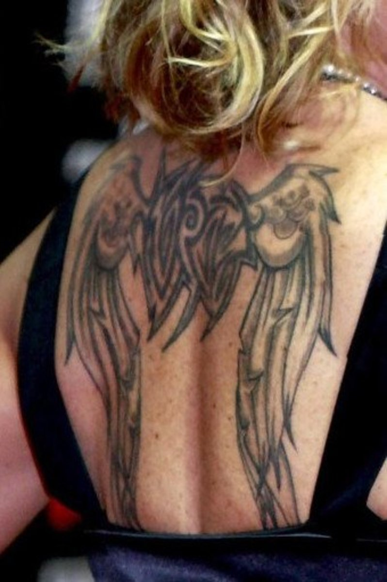 idei-dlya-tatuirovok - Готические Татуировки С Дизайном Крыла -  - фото