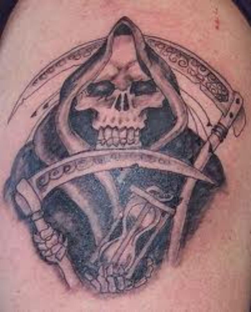 Tattoo Designs Grim Reaper: Title: Grim Reaper Tattoo Designs, Ideas, And Meanings