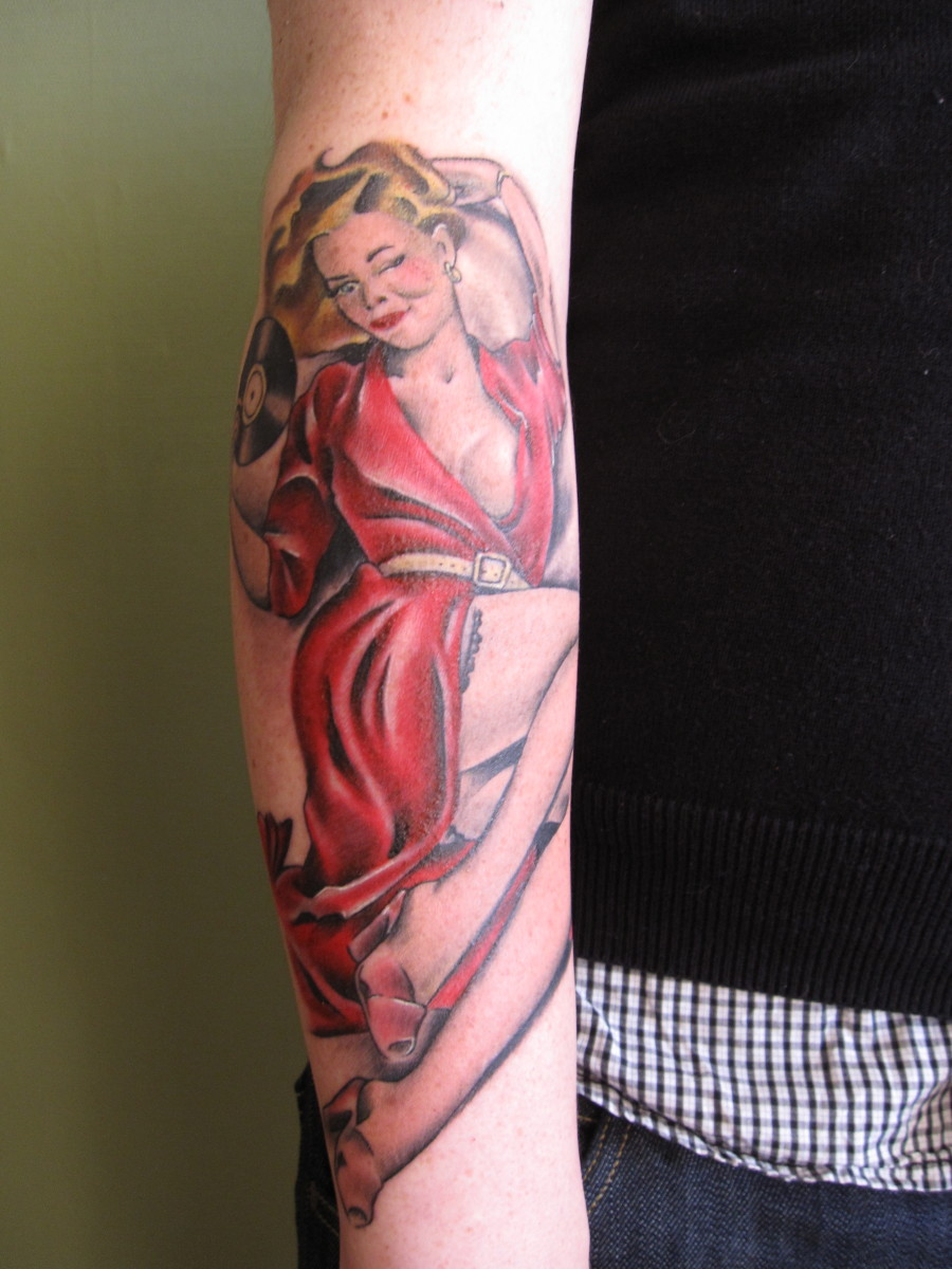 Pinup Girl Tattoo Design Ideas, Meanings, and Photos