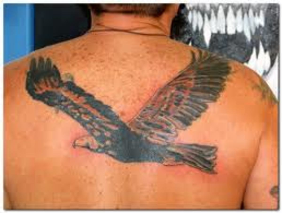 Soaring eagle tattoo.