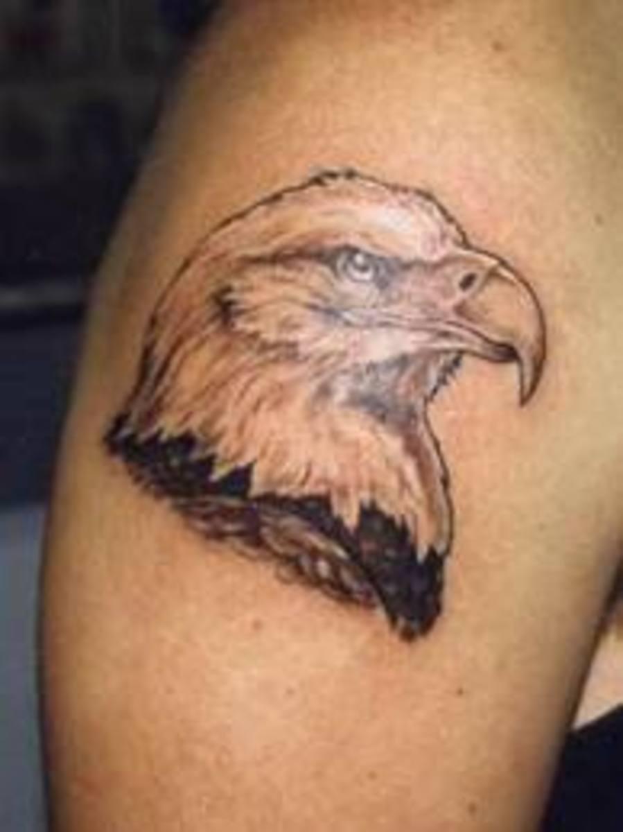 Bald Eagle Head Tattoo