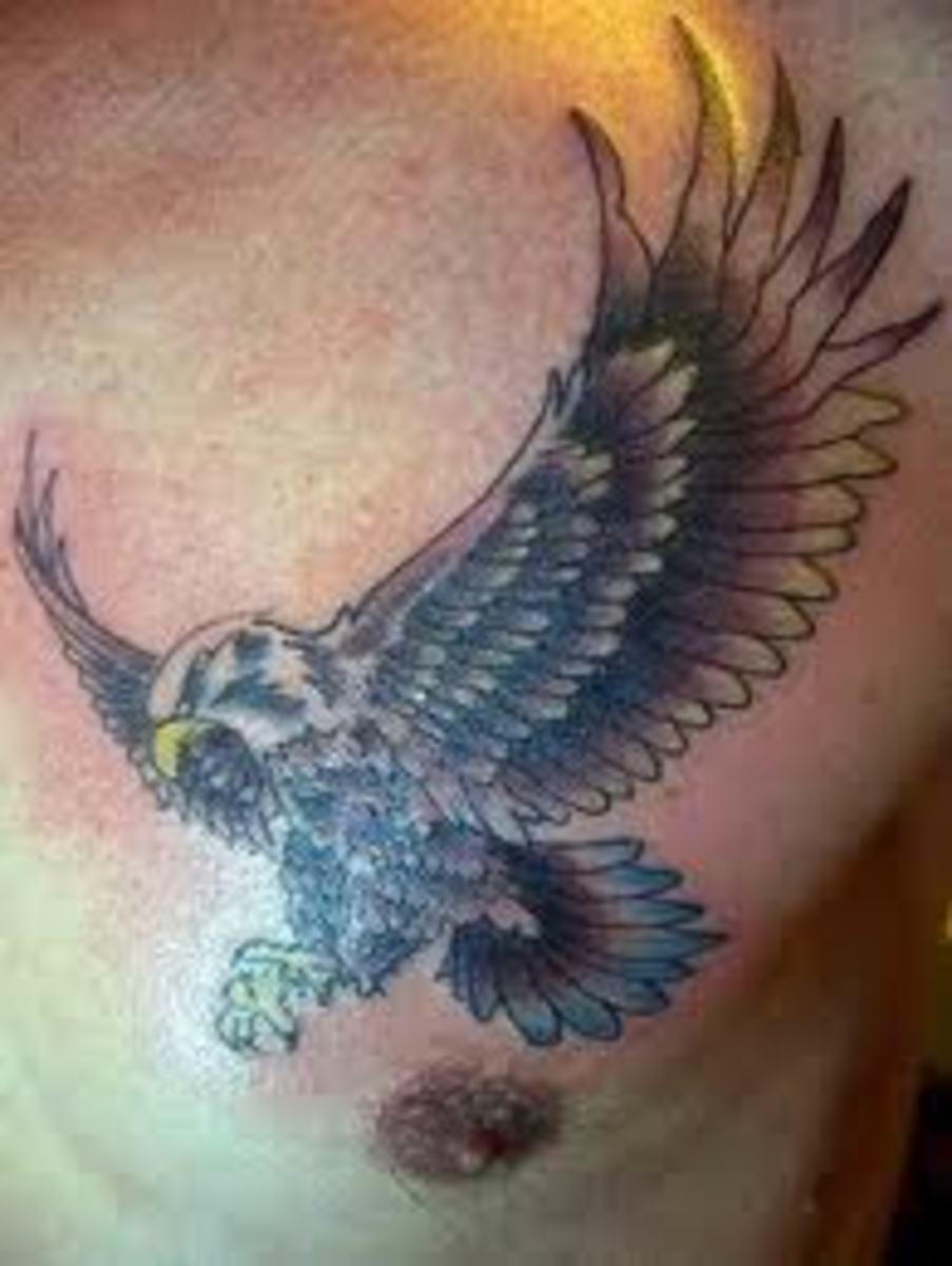 Attacking Eagle Tattoo