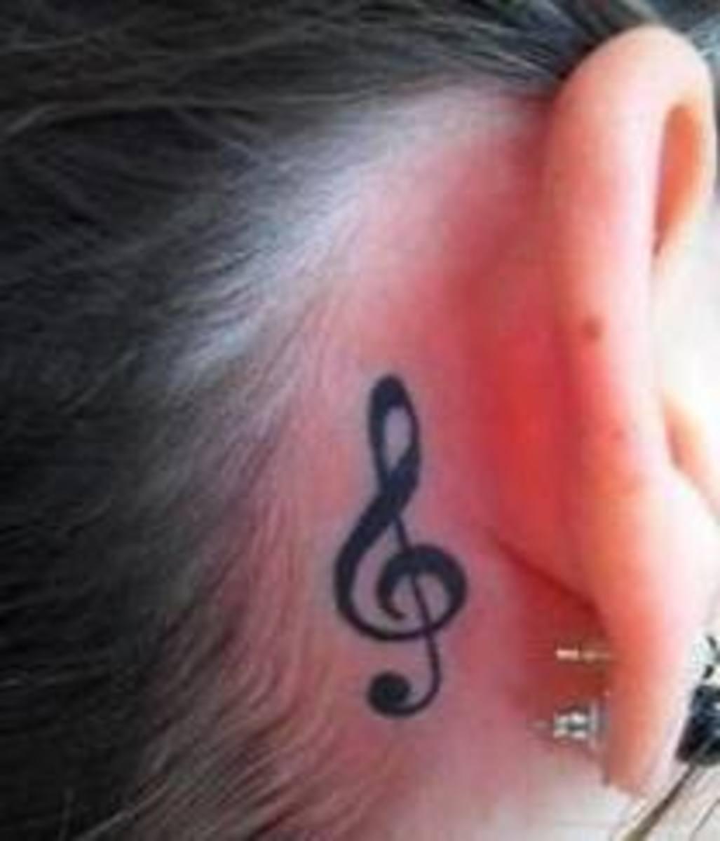 Flexible Ear Tattoos Tatring