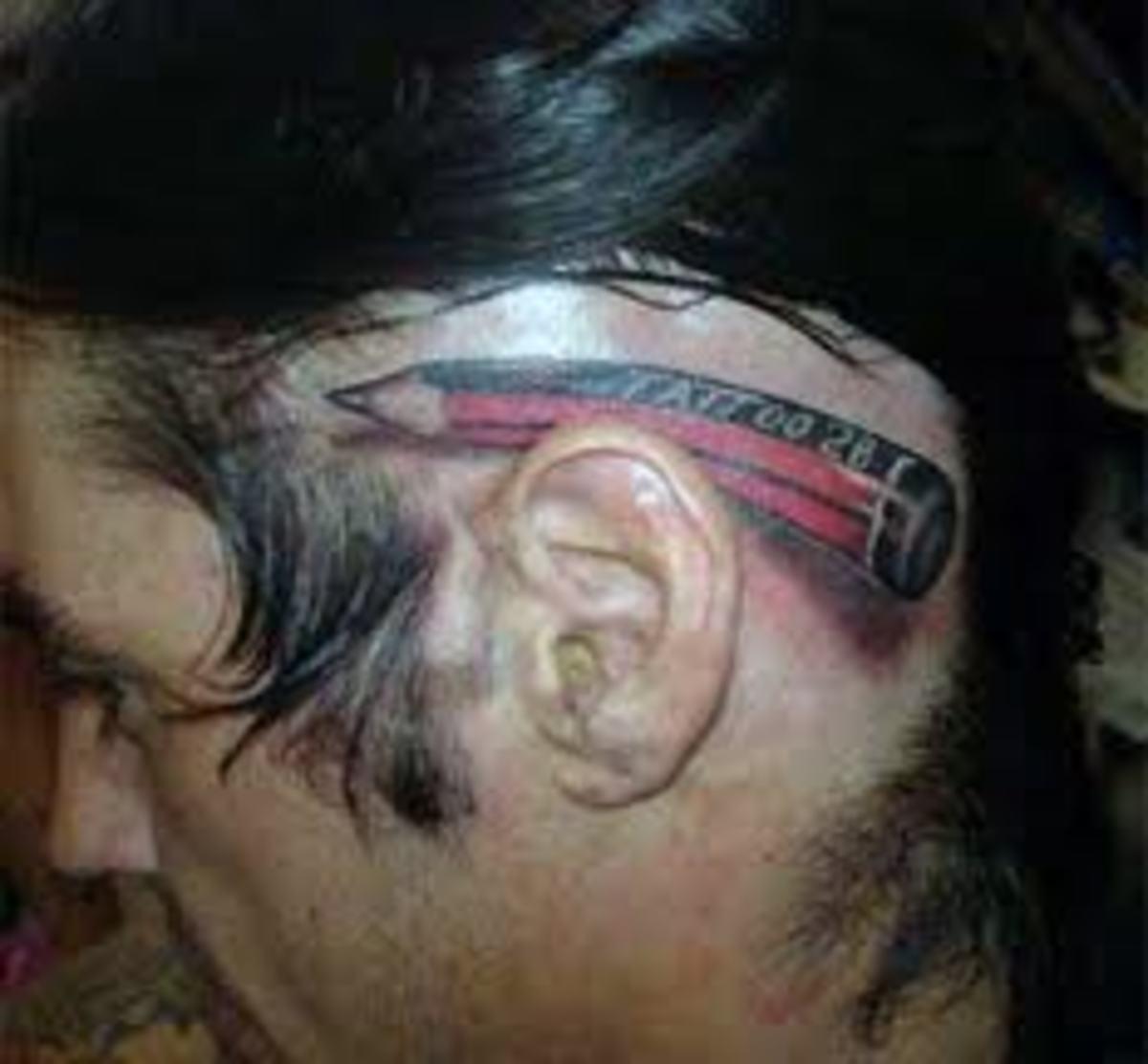 tatu-na-tele - Татуировки за ушами, идеи -  - фото