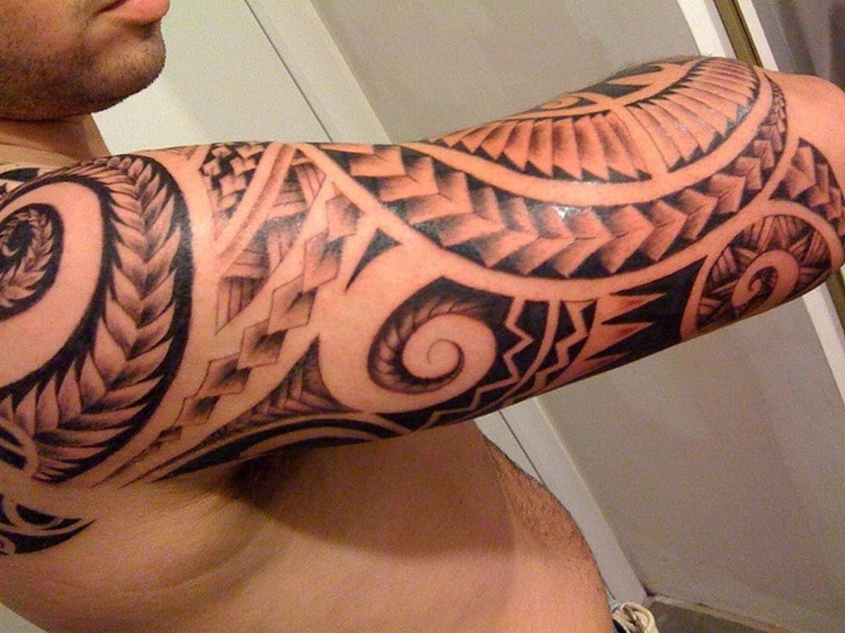 A Polynesian tattoo.