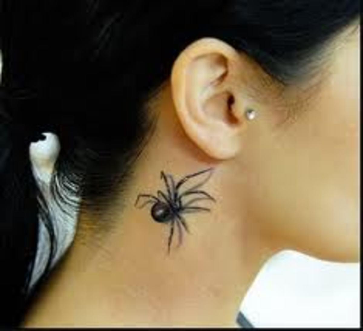 Spider under ear