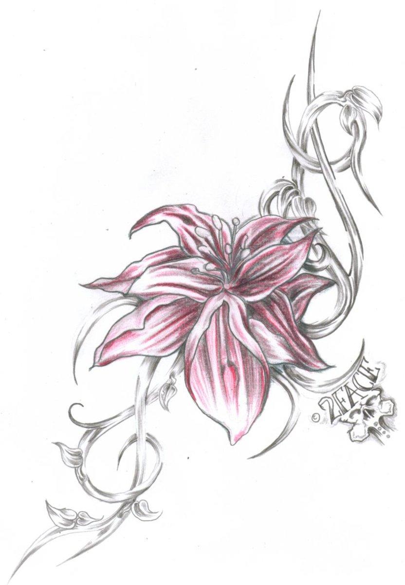 idei-dlya-tatuirovok - Орхидея татуировки идеи, эскизы и значения -  - фото