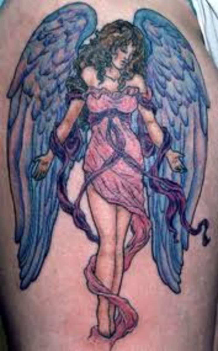 idei-dlya-tatuirovok - Смыслы и конструкции ангел татуировки -  - фото