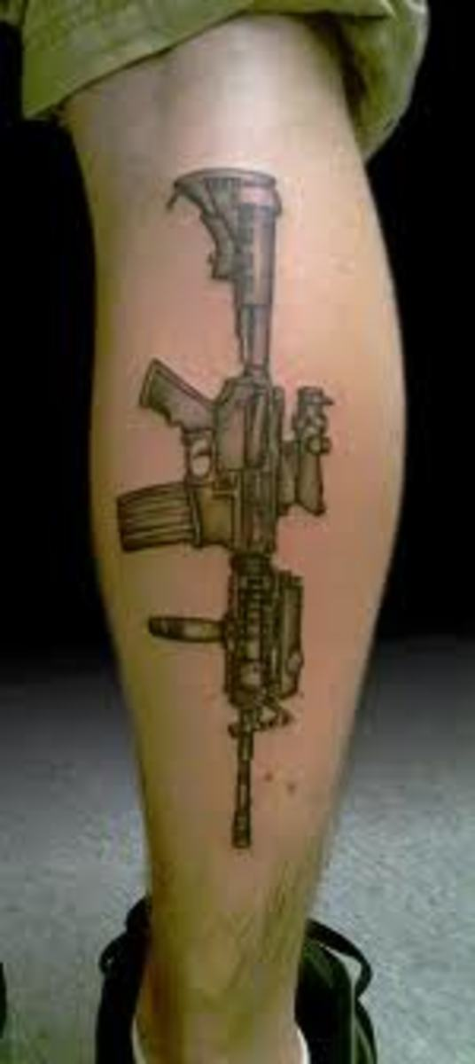 Gun Tattoo Picture