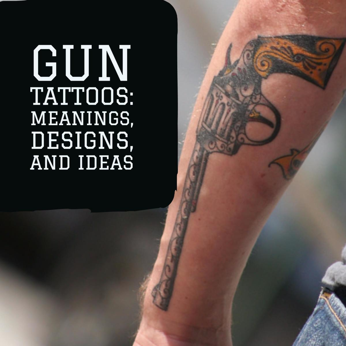 Planet Tattoo Designs Ideas And Meaning: Gun Tattoos: Meanings, Designs, And Ideas