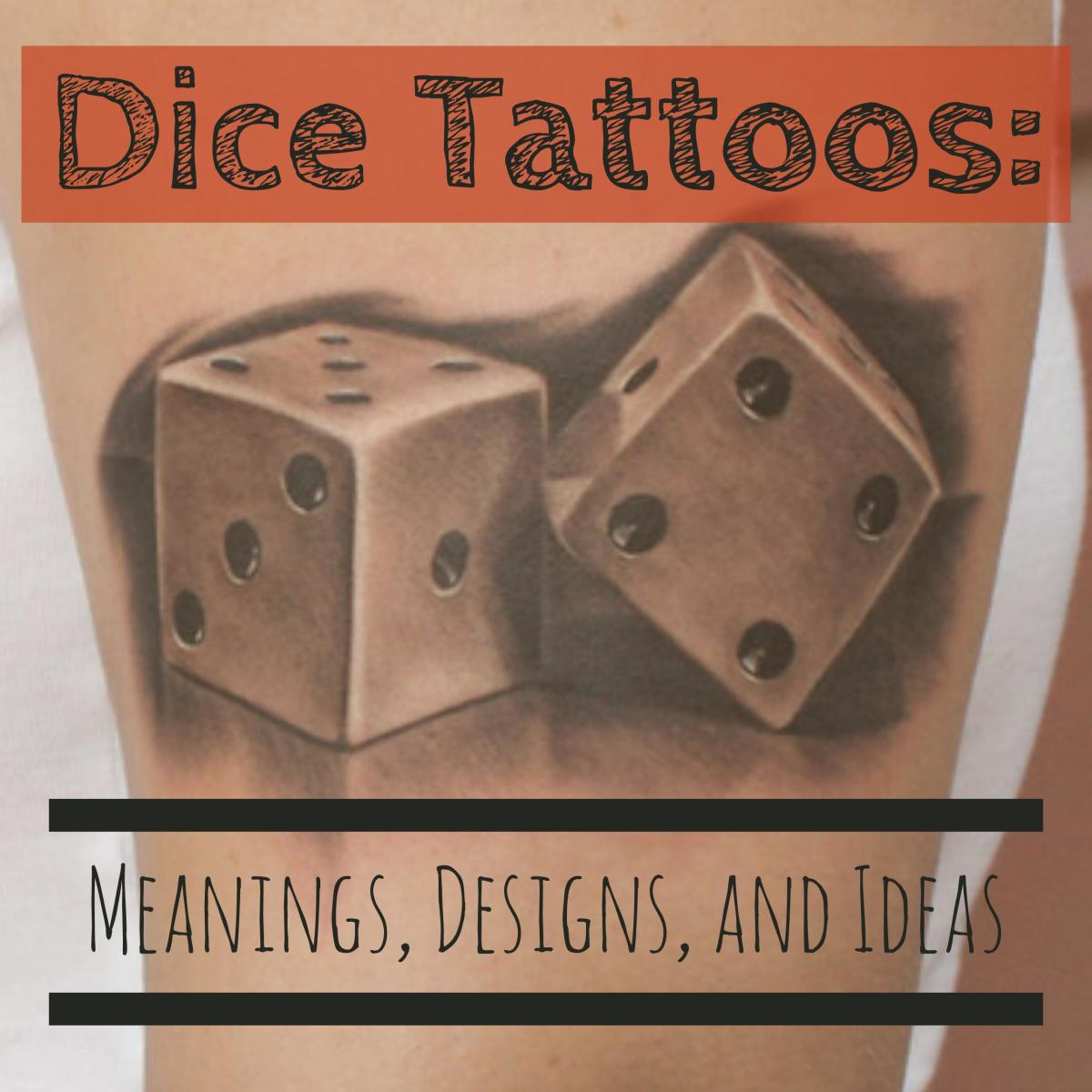 Dice tattoos meanings designs and ideas tatring buycottarizona Images