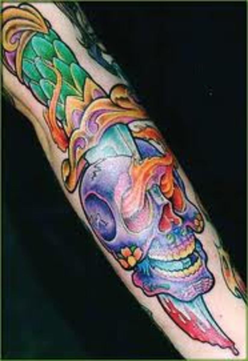idei-dlya-tatuirovok - Кинжал татуировки: идеи, проекты, и смыслы -  - фото