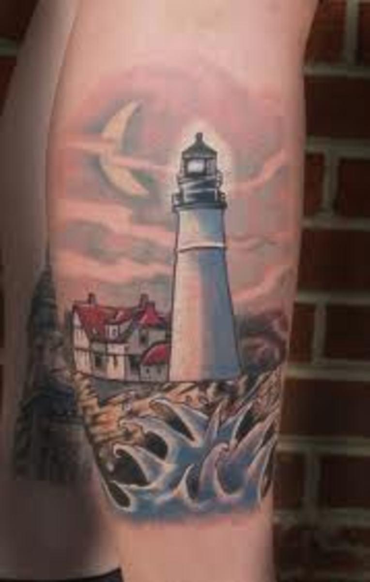 Jupiter Lighthouse Tattoo